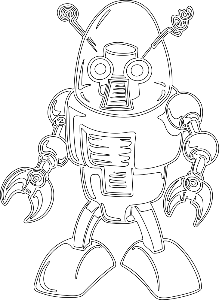 Cool Robot DXF File