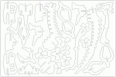 3D Dino DXF File