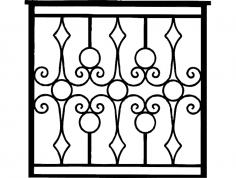 Gate Ironwork dxf File