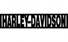 Harley Davidson Word dxf File