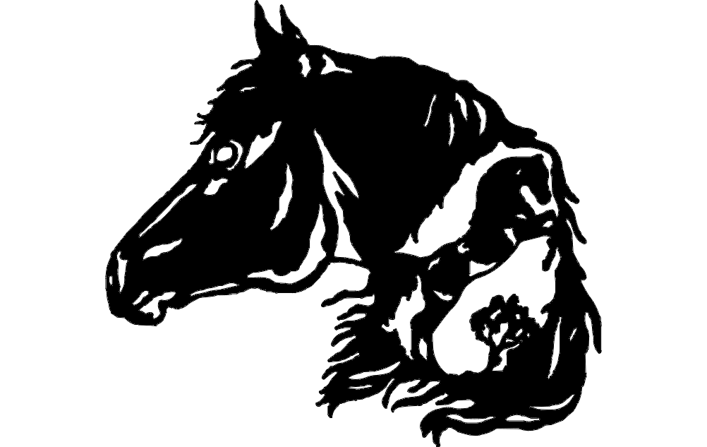Horse Head 3 dxf File
