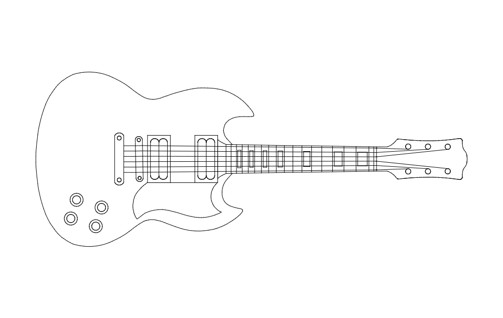 Guitar 2 dxf File