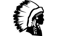 Indian Chief dxf File