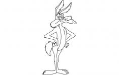 Wile E Coyote dxf File