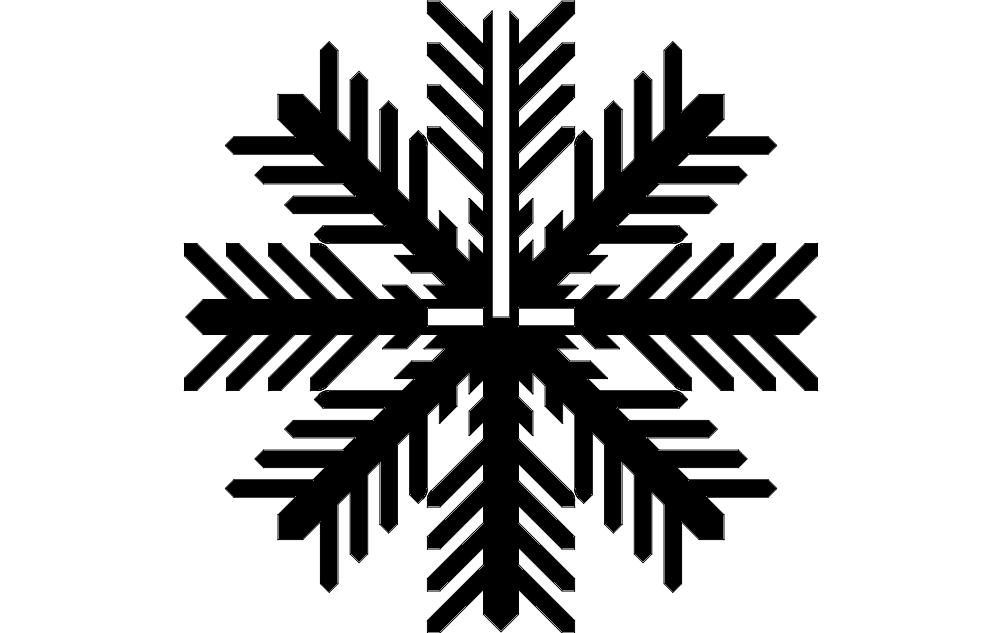 Snowflake A dxf File