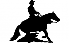Rodeo Silhouette Cowboy dxf File