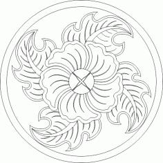 Flower round DWG File