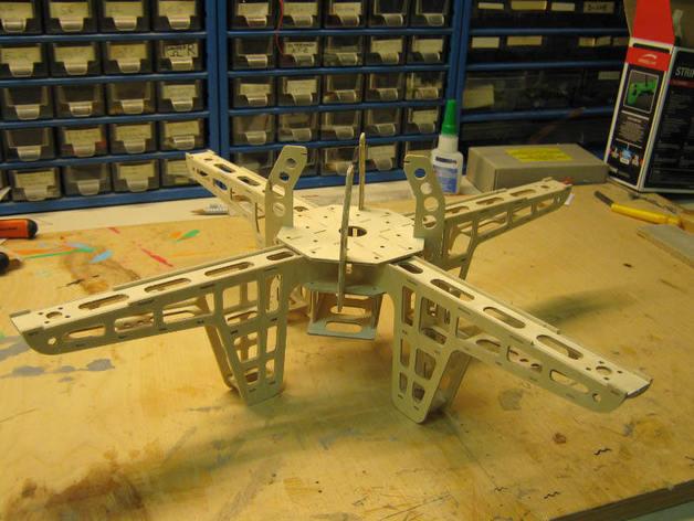 Quad Copter Frame DXF File