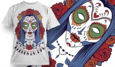Fleurs du Mal Free T-shirt Design Vector