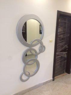 Modern Mirror Frame DXF File