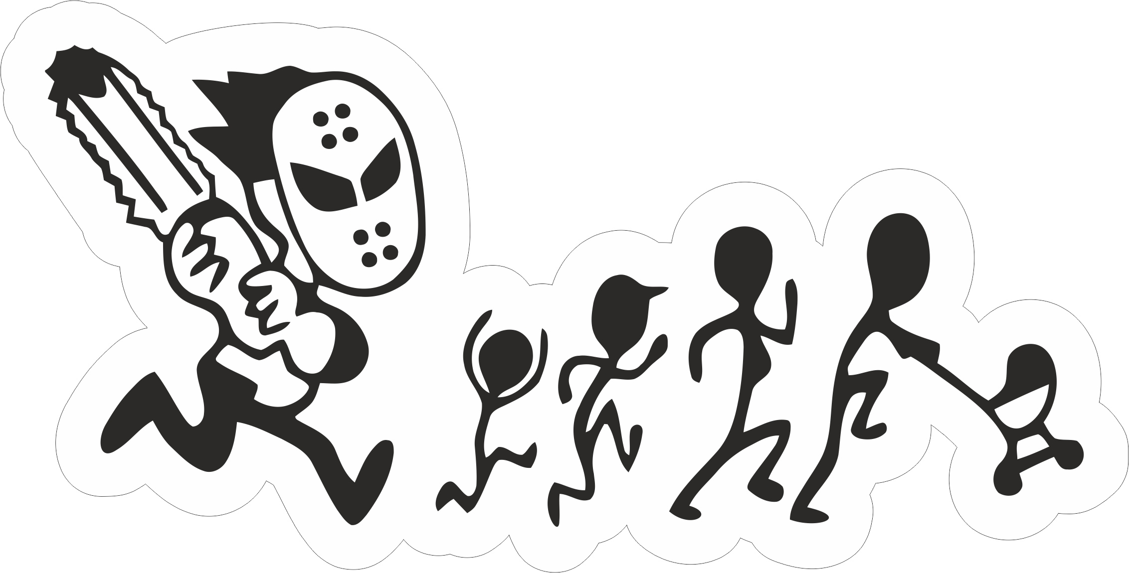 Family Car Sticker Free Vector