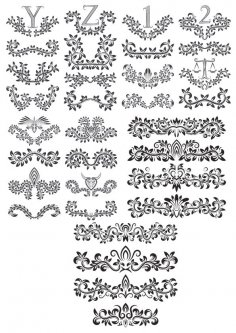 Linear Border Ornaments Seamless Pattern Set CDR File