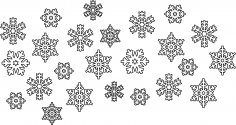Snowflake Vectors Free Vector