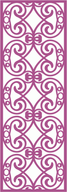 Laser Cut Vector Panel Seamless 163 CDR File
