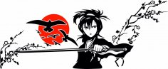 Samurai Sticker CDR File