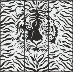 Cheetah Sandblasting pattern Free Vector