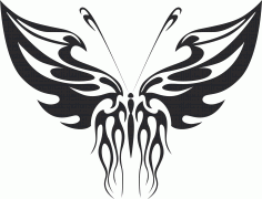 Tribal Butterfly Vector Art 32 DXF File