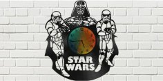 Star Wars Clock Plans Darth Vader Stormtrooper Free Vector