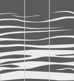 Sandblasted Patterned Decorative Glass Panel Free Vector