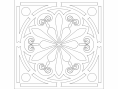 Circle Ornament dxf File