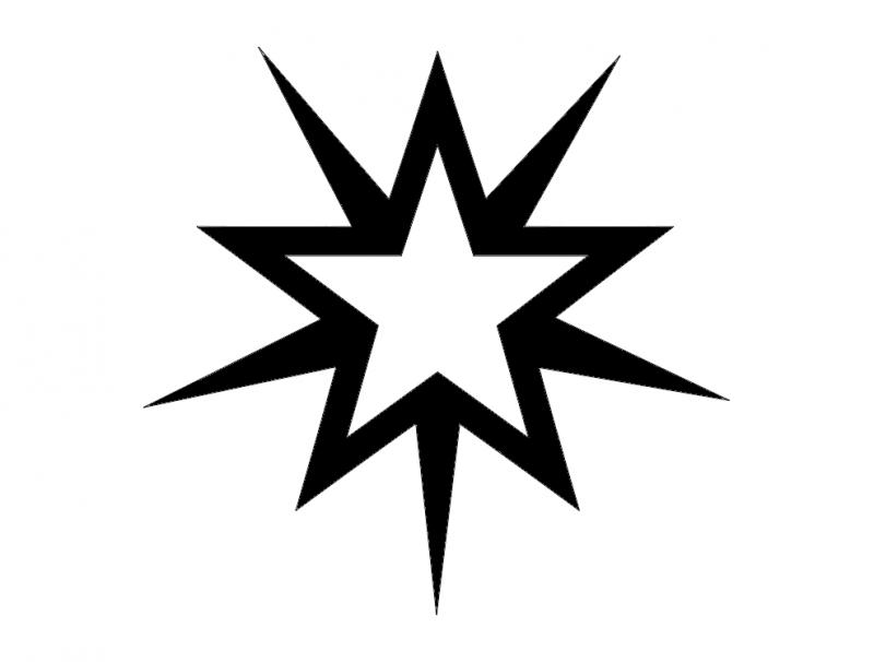 starburst 2 wt dxf File