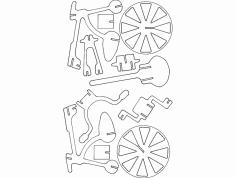 Bicicleta 3D Puzzle dxf File