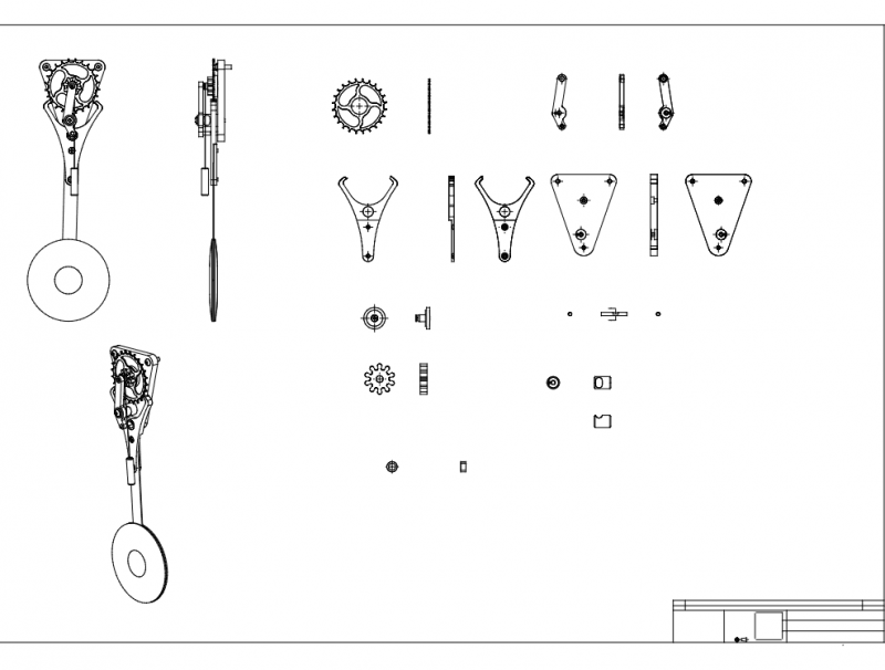 Worlds Simplest Clock Dxfs rev2 dxf File