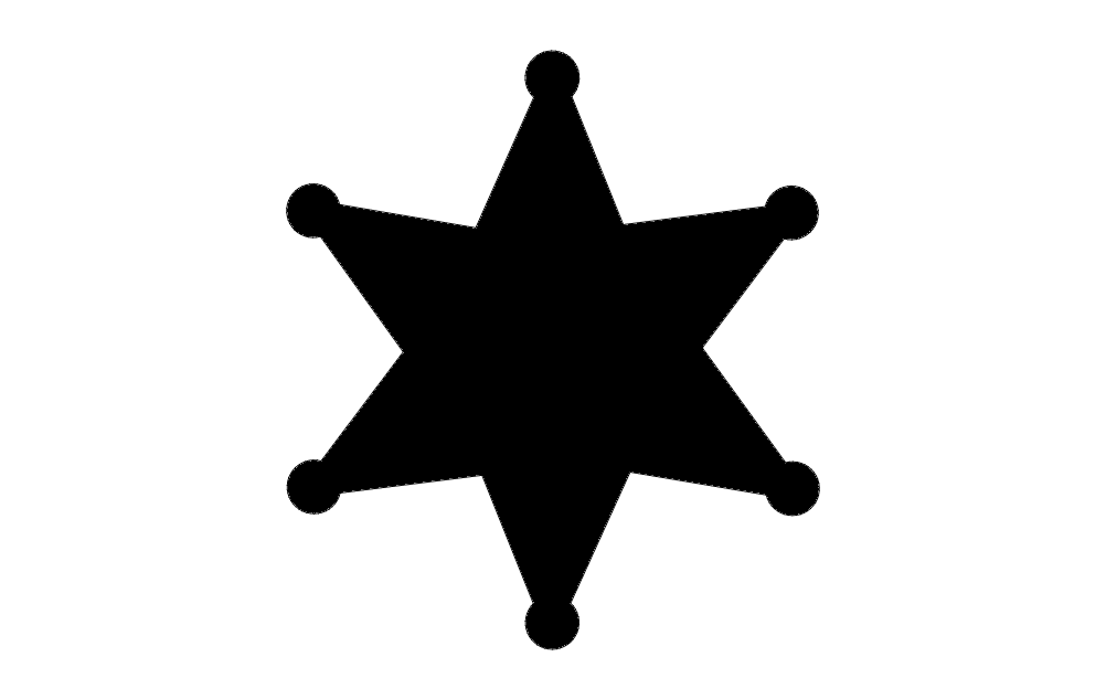 Star badge dxf File