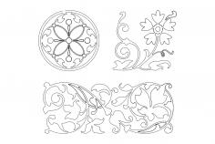 Floral Designs dxf File