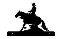 Horse Cowboy Plate dxf File
