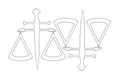 2 balança Da justica49x52 dxf File