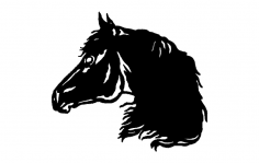 Horse Head dxf File