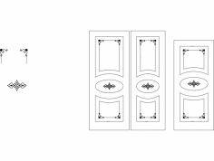 Kapi Desen çi̇zi̇m dxf File