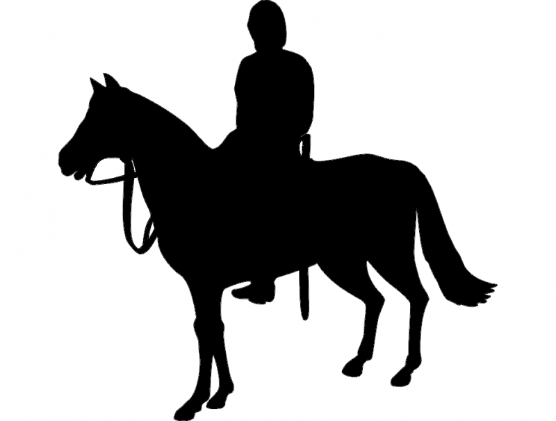 Horse Rider Silhouette dxf File