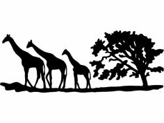жирафы (giraffes) dxf File