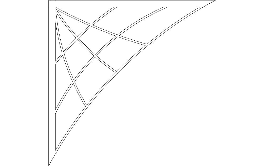 Spiderweb Bracket dxf File