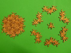 Tessellation Gecko Puzzle dxf File