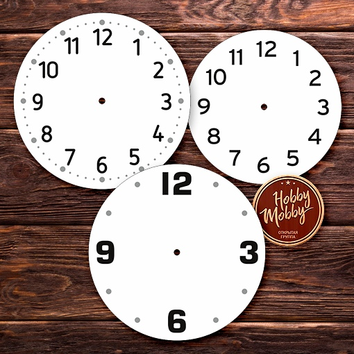 Laser Cut Dials Wall Clock Faces DXF File