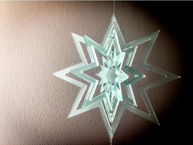 Laser Cut Decorative Hanging Star Free Vector