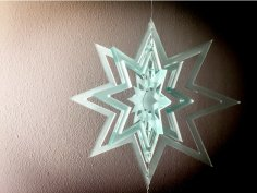 Laser Cut Decorative Hanging Star Free Vector