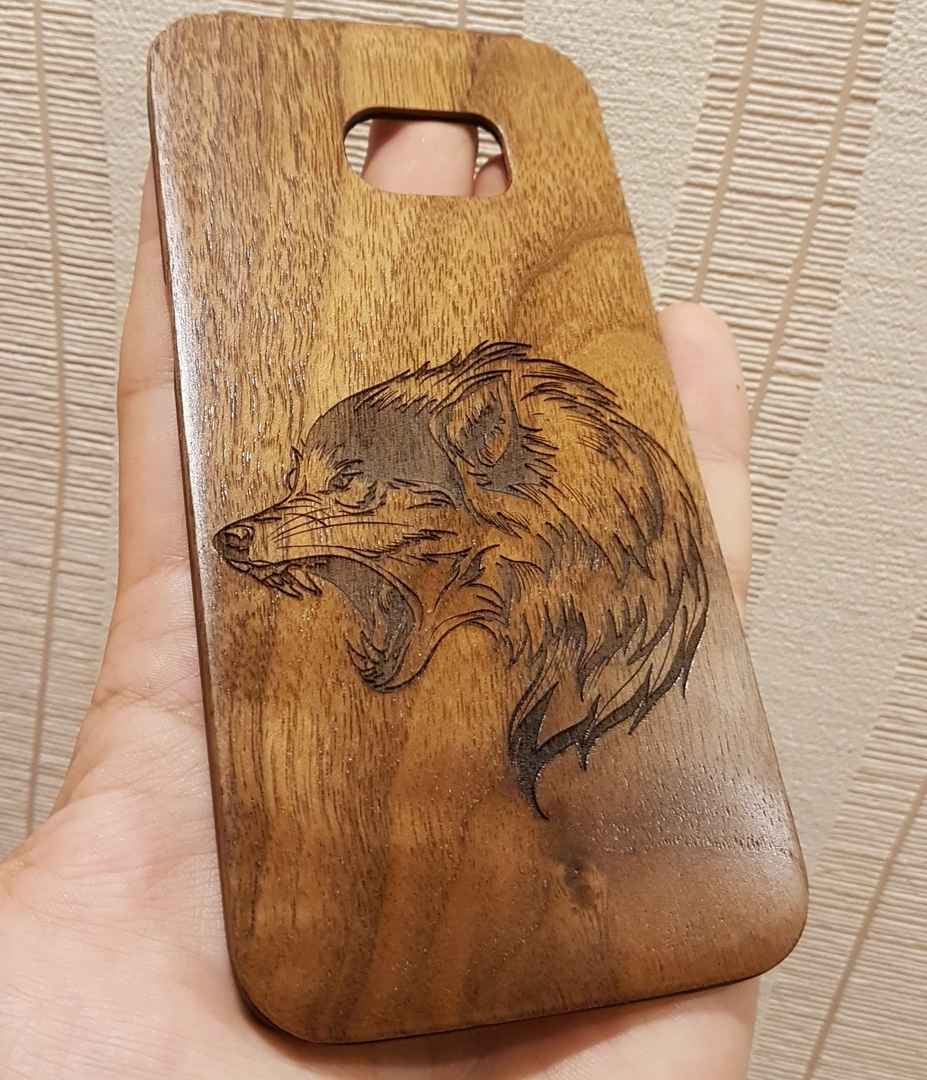 Laser Engraving Wolf DXF File