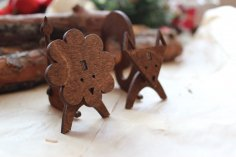Laser Cut Wooden Animal Decoration Template Free Vector