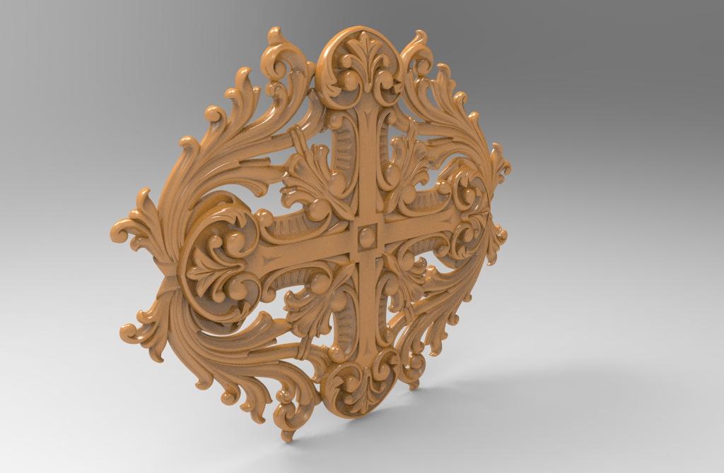 Decorative 3D Stl Model for CNC Wood Carving Stl File