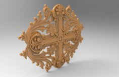 Decorative 3D Stl Model for CNC Wood Carving Stl File