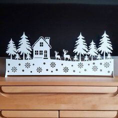 Laser Cut New Year Panel for Window Free Vector