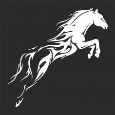Tribal Horse Unique DXF File