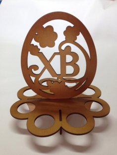 Easter Egg Holder Laser Cut Vector Model Free Vector