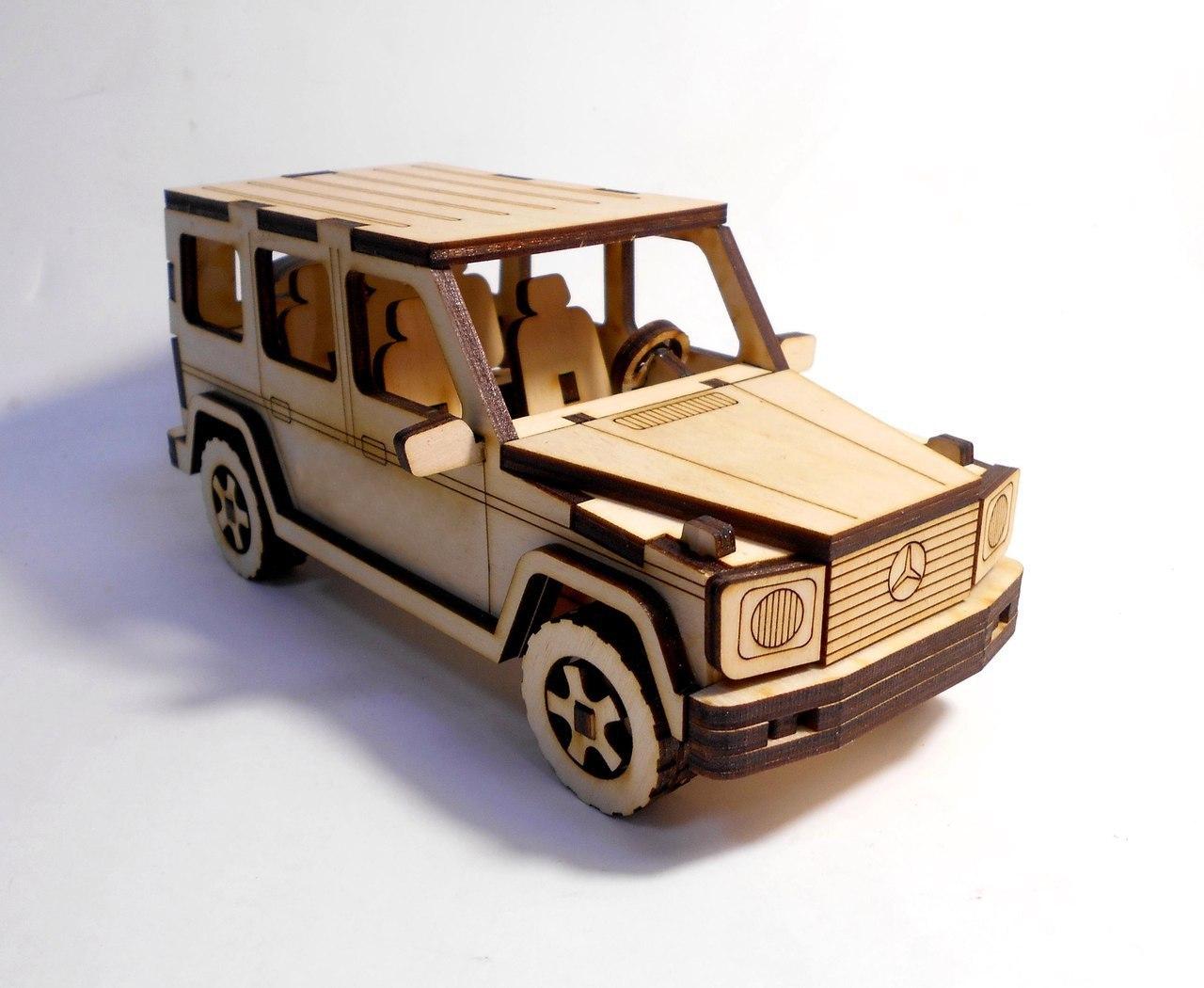 Laser Cut Mercedes Benz G Class 3D Puzzle Free Vector