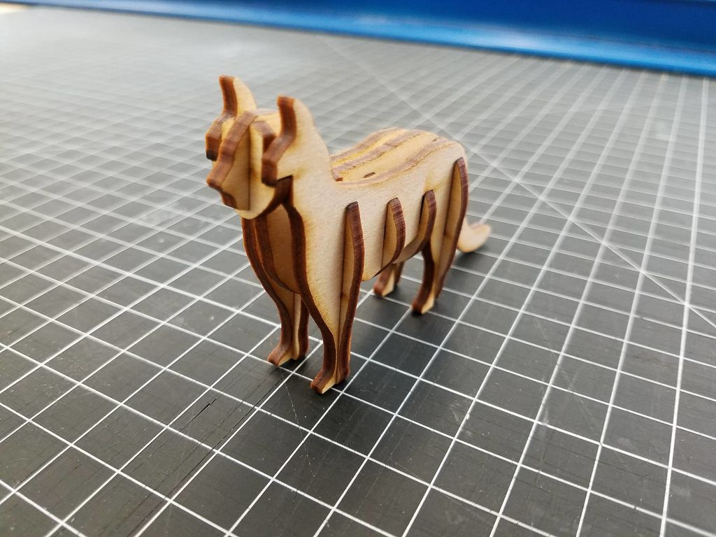 Laser Cut 3D Cat Template PDF File