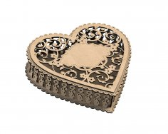 Laser Cut Jewelry Box Free Vector